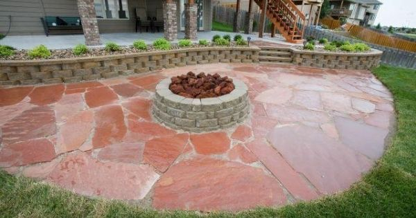 Firepit created by Roberts Nursery