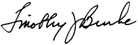 Tim Burke Signature
