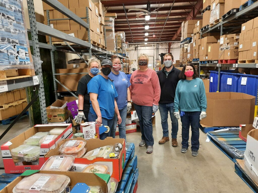 NMC employees at the food bank